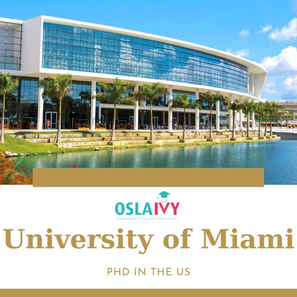 Học bổng PhD tại University of Miami