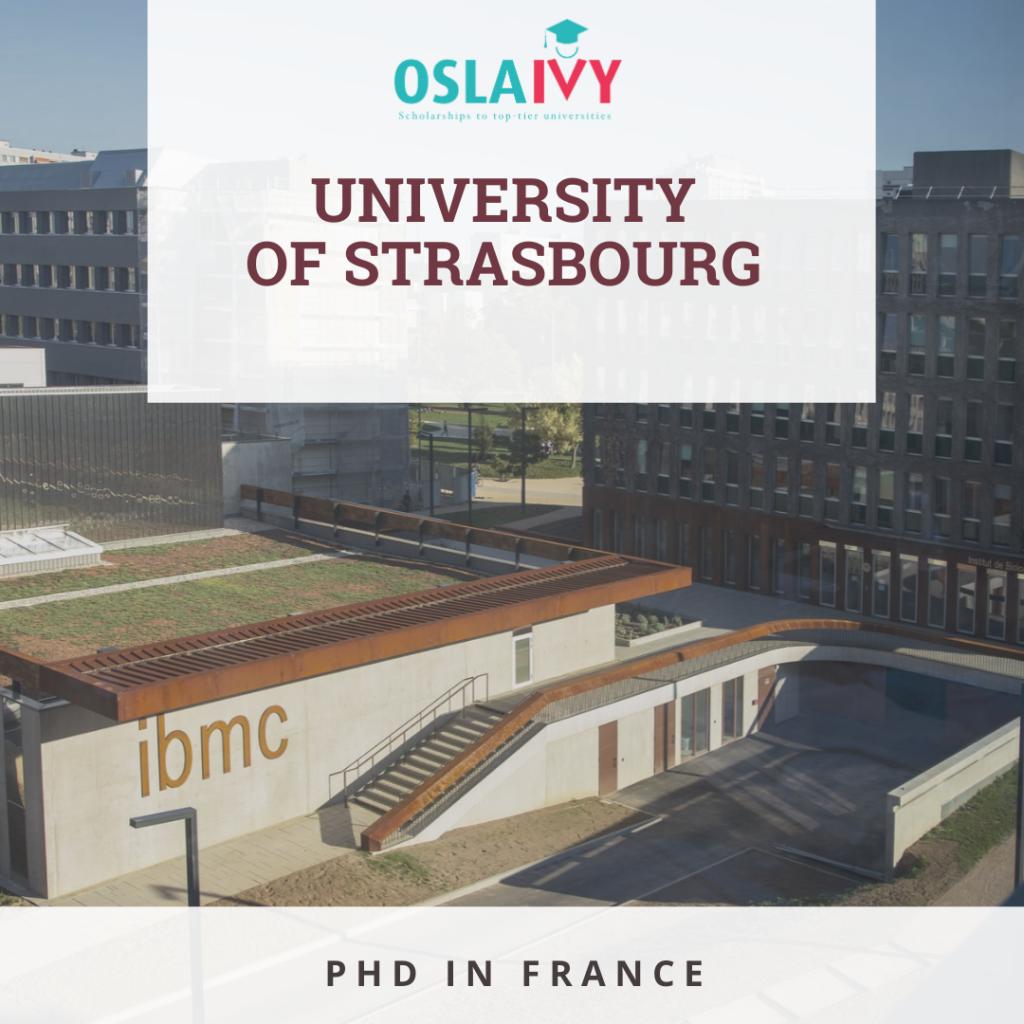 Học bổng PhD tại University of Strasbourg