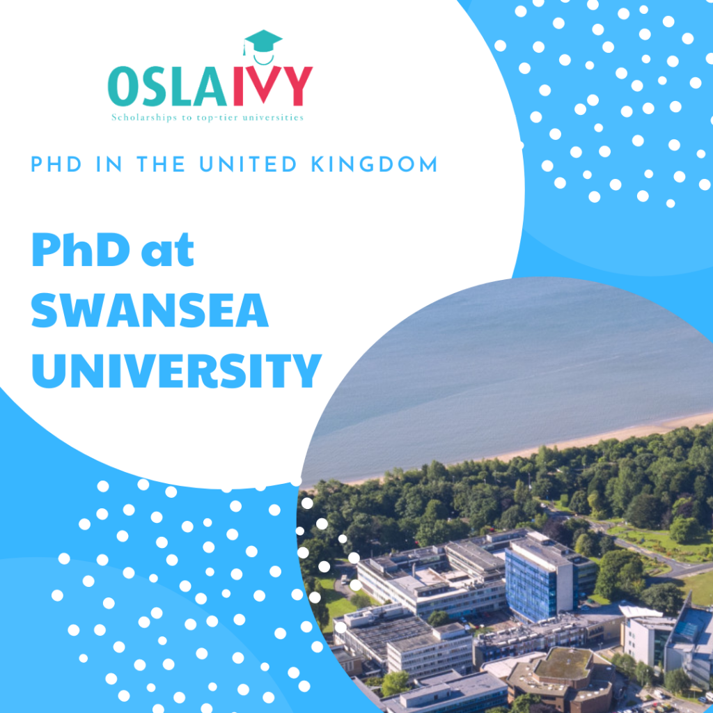 Học bổng PhD tại Swansea university
