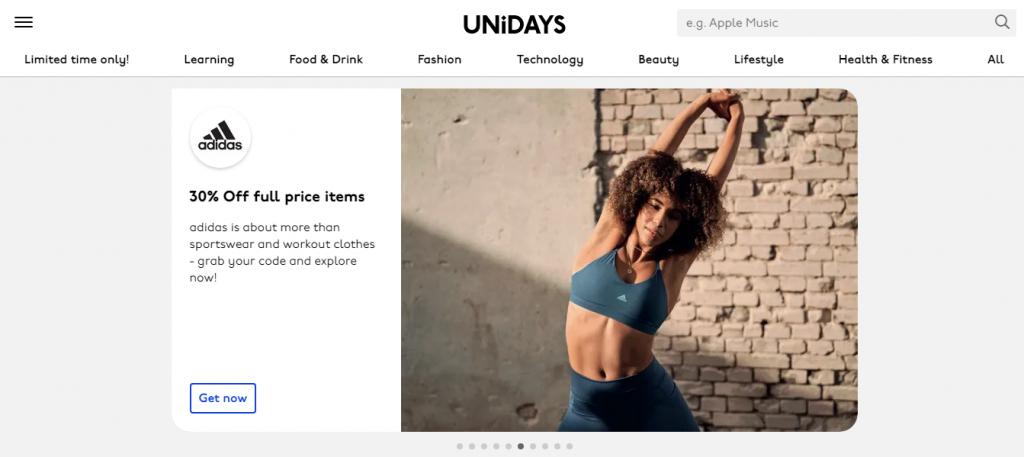 UNiDAYS giúp bạn tận dụng được những ưu đãi đặc biệt