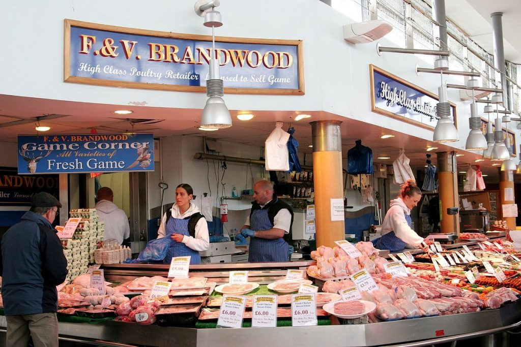 Một khu chợ đường phố tại Anh