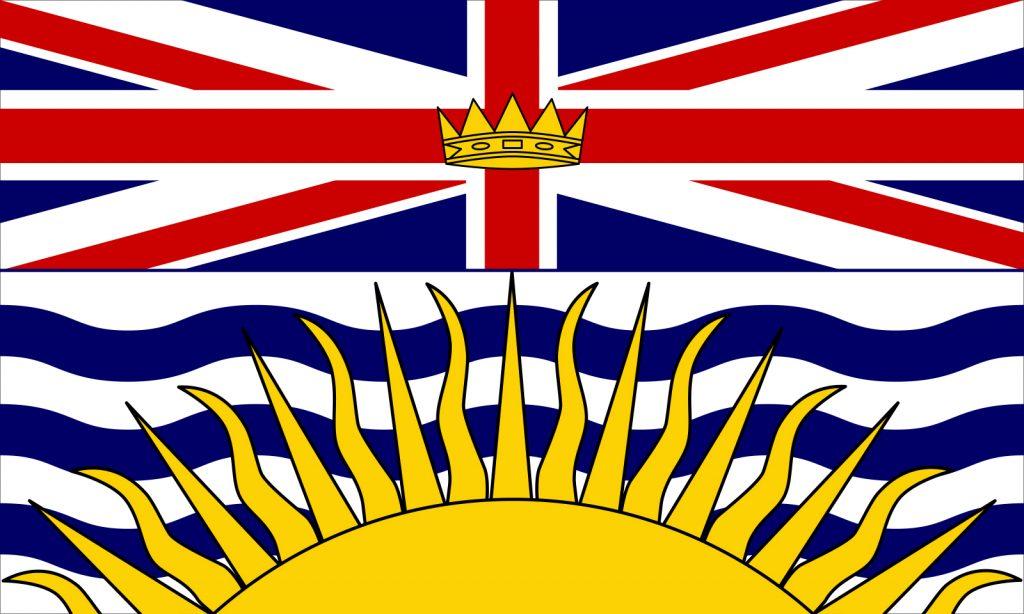 Lá cờ biểu tượng tỉnh bang British Columbia Canada