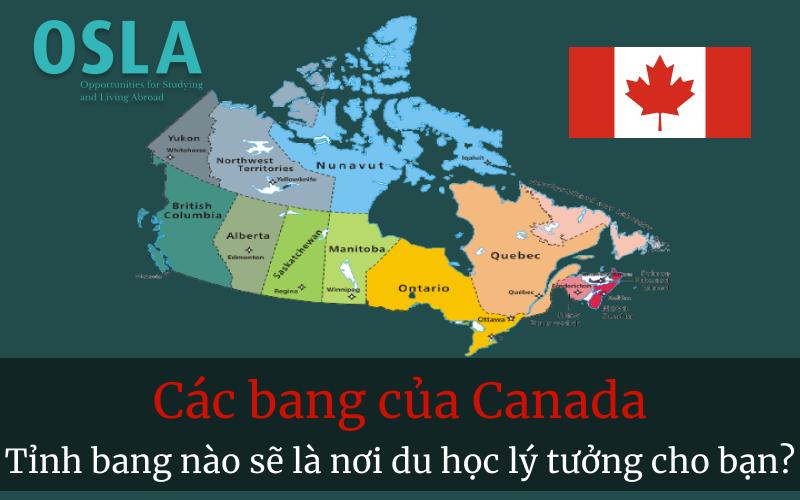 các bang của Canada - tỉnh bang nào sẽ là noi du học lý tưởng của bạn