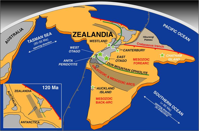 Lục địa bí ẩn Zealandia - New Zealand thuộc châu lục nào?